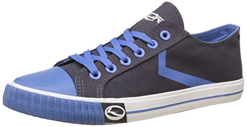 f20fd46109 Lancer Men s Dark Grey and Aqua Sneakers - 8 UK India (42 EU)