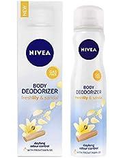 Nivea Body Deodorizer, Fresh Lily and Sandal Gas Free Deodorant for Women, 120ml