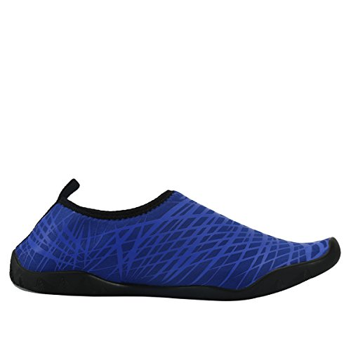 AFFINEST Uomo Donna Passione fuoco flessibile Acqua Sport Pelle Scarpe Aqua calzini unisex di nuoto, corsa, snorkeling, surf, esercizi di yoga Blu