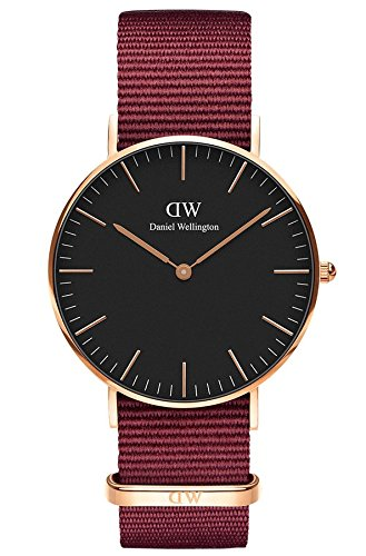 Daniel Wellington Unisex Erwachsene Analog Quarz Smart Watch Armbanduhr mit Stoff Armband...