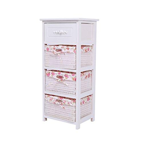 LiuJF-Tables/Chair Nachtschränkchen, Rattan Ablagekorb Schubladenschrank Telefontisch Wohnzimmer Schlafzimmer Quadratisch Tisch | 3 Größen (größe : 36 * 29 * 80cm) - Schlafzimmer-rattan-tisch