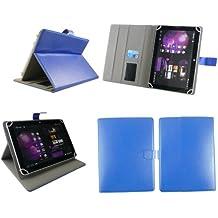 Emartbuy® Onda V989 Air Plus 9.7 Pulgada Tableta Universal Serie Azul Ángulo Múltiples Ejecutivo Folio Funda Carcasa Wallet Case Cover Con Ranuras Para Tarjetas + Azul Lápiz Óptico