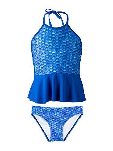 Fin Fun Bandeau Bikini Einstellen, Arctic Blue Oben, Arctic Blue Unterseite, Mädchen ()