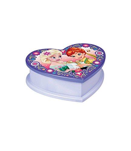 Disney-La-reina-Elsa-Anna-nia-Joyero-Corazn-Color-Lila
