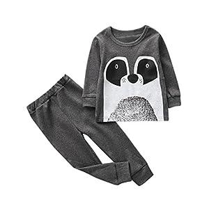 2 PCS Toddler Baby Girls Niños Niños Trajes de Dibujos Animados Ropa Camiseta Tops y Pants por ESAILQ 1