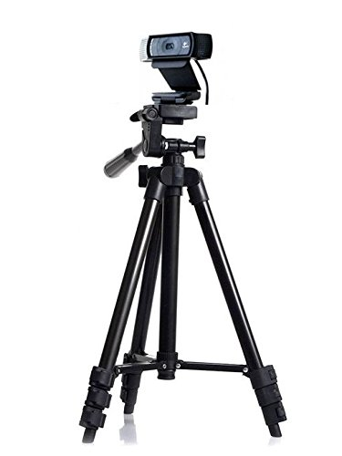 Profesional Cámara Trípode Montaje sostenedor soporte para Logitech Webcam C922 C930e C930 C920 C615-negro