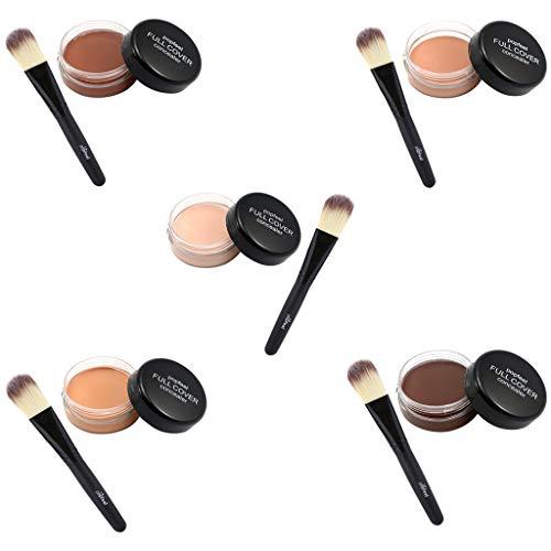B Baosity 5 Pedazos Paleta de Resaltado de Ojos Corrector a Prueba de Agua Pincel Aplicador de Polvo de Maquillaje