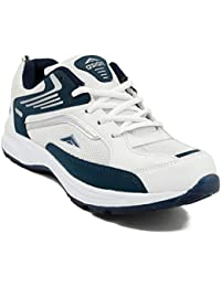 Asian Shoes Men's Mesh Running Shoes (FUTURE-01cWHTNBL-$8__White & Nevy Blue_8 UK)