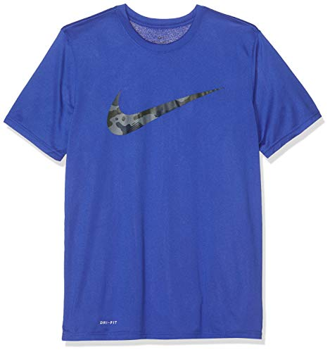 7ee6b6df Nike Herren M NK Dry Leg CAMO SWSH T-Shirt, Game royal/Dark
