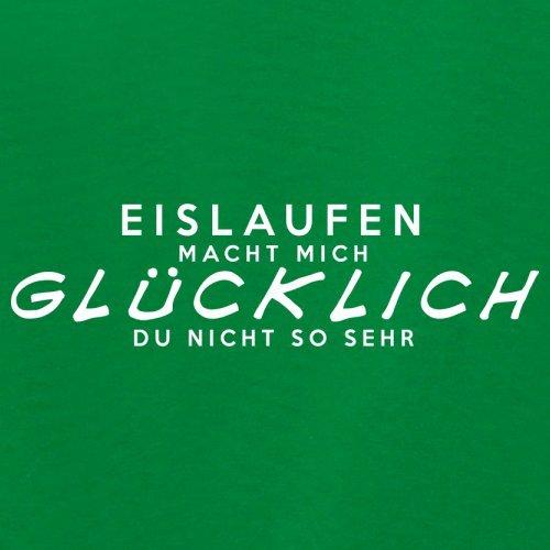 Eislaufen macht mich glücklich - Damen T-Shirt - 14 Farben Grün