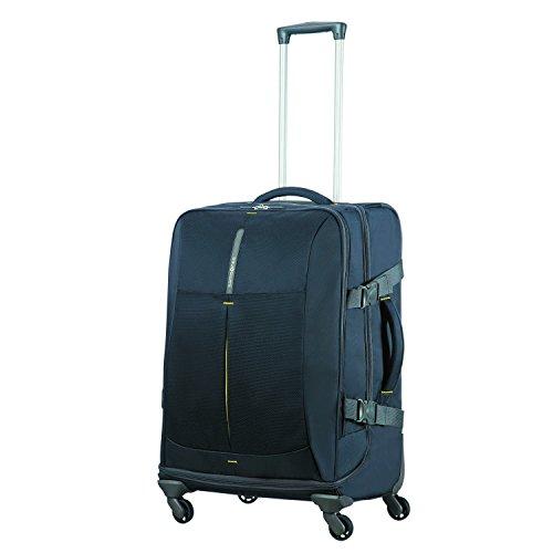 SAMSONITE 4mation - Spinner Duffle Bag 67/24 Reisetasche, 67 cm, 82.5 L, Midnight Blue/Yellow