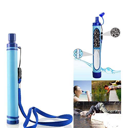 Auveach Filtro per l'acqua Portatile Campeggio Esterna Paglia Gear Purificatore Tubo Aspirazione Escursionismo Strumento di Sopravvivenza Surviva Emergenza