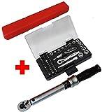 Famex Werkzeuge 10875 Sparset mit FAMEX 594-38 Drehmomentschlüssel Steckschlüssel, 6-30 Nm
