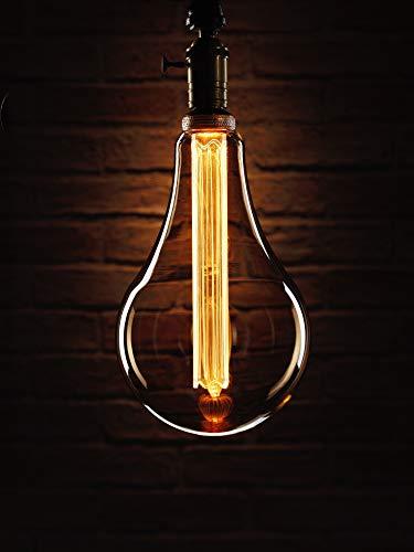 Auraglow Mysa LED-Glühbirne - Vintage Retro Rustikal Edison Style Dekorativ Energieeffizient Filament E27 Schraube XXL Große Glühbirne