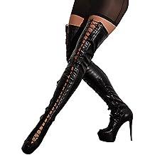 2fac19ed6abe Cotelli Collection Stiefel - verführerische Overknee-Stiefel mit Schnürung,  High-Heels-Stiefel