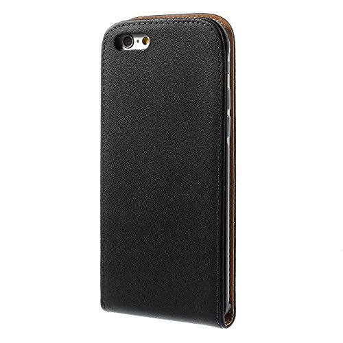 wortek Slim Flip Case Apple iPhone 6 / 6S (4,7 Zoll) Tasche Dünn Rot iphone 6 (4,7) - Schwarz