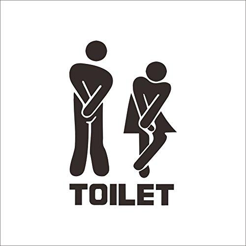 CHRISLZ 6 PCS Toiletten Tür Wandaufkleber Startseite Cafe Hotel Waschraum Wanddekoration Bad Eingang Zeichen Abziehbild PVC Aufkleber WC Aufkleber (Cafe-türen)