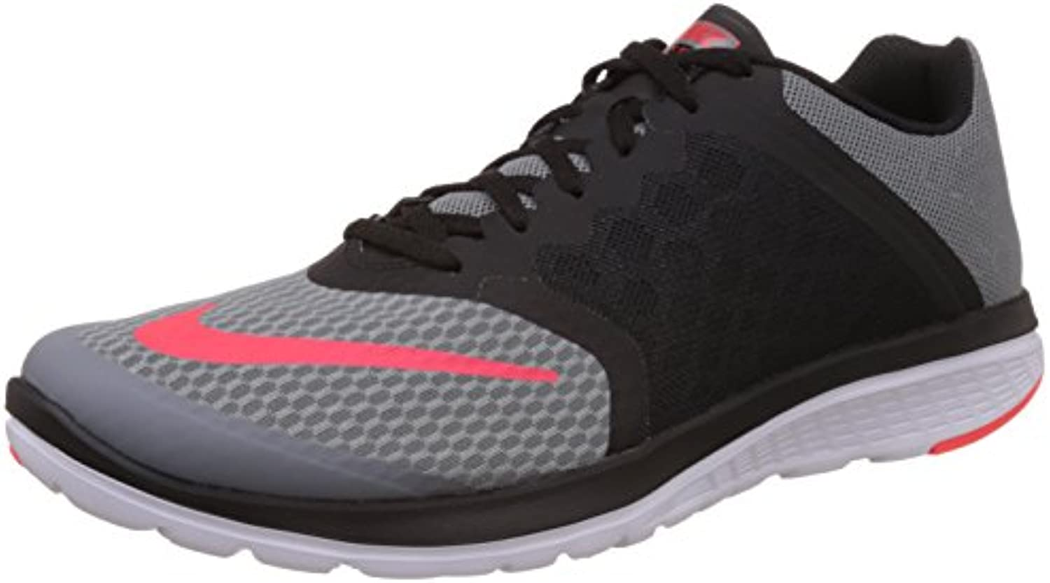 Nike Herren Fs Lite Run 3 Laufschuhe  Pure Platinum/Lyon Black Black Total Orange 001  43 EU