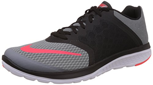 9a80d62733d Nike 807144-002 Men S Fs Lite Run 3 Running Shoe Cool Grey Black White  Bright Crimson 11 D M Us- Price in India