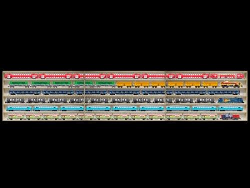 3E11ALRM Vitrine étagère murale avec vitres en plexiglas clair largeur totale 210 cm, 3 éléments: droite milieu gauche: 210 cm x 58 cm x 10,5 cm Avec rainures pour échelle H0 collection miniature moto collecteur dé à coudre tableau d'affichage train pion petit objet jouet enfant mini nain de jardin schtroumpf meuble rangement étagère armoire placard bois nature petite bouteille idée cadeau de noel anniversaire qualité supérieure