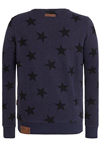 Naketano Male Sweatshirt Frittenklaus Dirty Dark Blue Melange