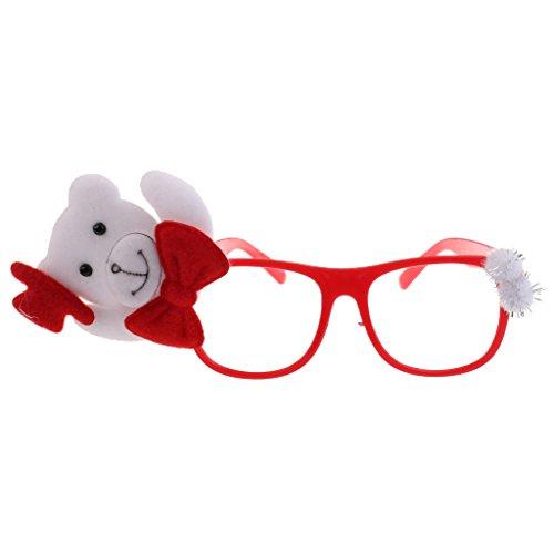 Prettyia Weihnachten Party Brillen Lustige Sonnenbrille für Weihnachten Kostüm Kinder Mitgebsel - Bär