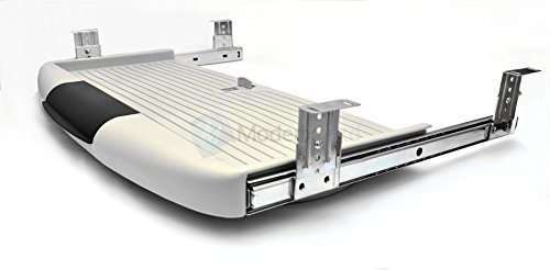 Under desk computer keyboard tray, shelf, sliding drawer complete kit - Grey by GTV