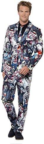 Smiffys Completo Zombie, Multicolore, con giacca, pantaloni e cravatta