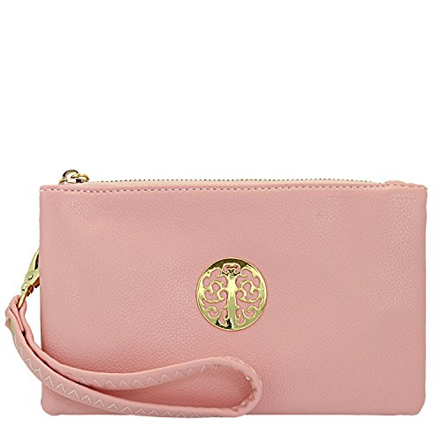 Fashion Choice , Damen Clutch Türkis türkis Rose