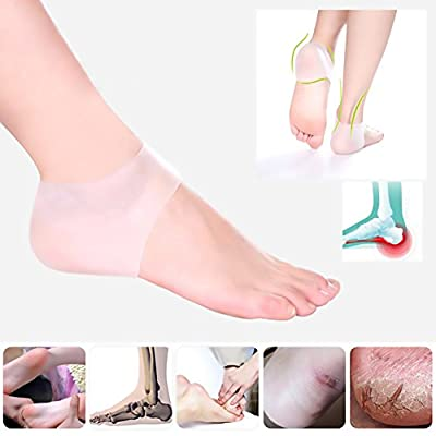 2 Pairs Silicone Gel Heel Sleeves,Heel Repair Pads Foot Cushion Protector for Plantar Fasciitis,Heel Spurs, HeelPain and Crack, Dry Skin by VEYLIN - inexpensive UK light store.