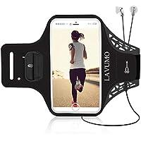 Handytasche Sport iPhone X 6 Plus 7 Plus 8 Plus Sportarmband Handyhülle LAVUMO Running Armband für Samsung Galaxy S8 S9 S7/S6/S6 Edge/S7 edge/S5/S9 Plus joggen Laufen Gym Armtasche Schlüsseltasche