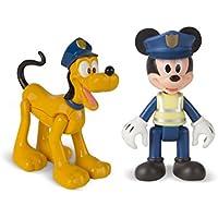 Imc Toys 182332 - Preescolar Set de 2 figuras Mickey + Pluto policias
