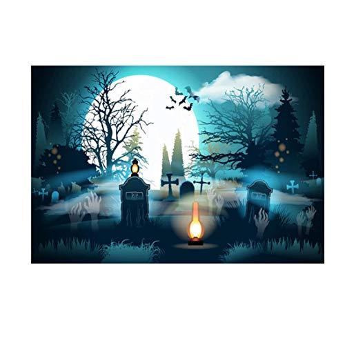 LANDFOX Halloween Backdrops 5 x 3FT Laterne Hintergrund Fotografie Studio Dekoration Hintergrund Studiohintergrundes 3D Liebhaber Traum Glitter Fotografie Studio Requisiten Kulisse