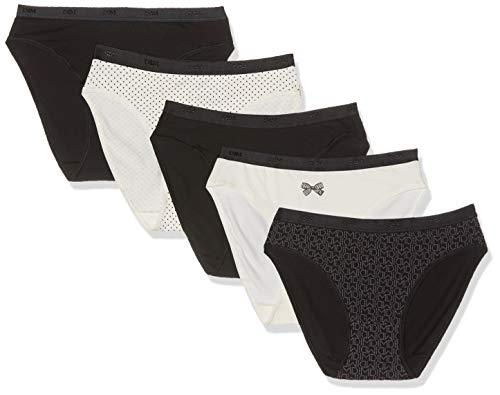 Dim Slip Les Pockets Coton X5, Femme, Multicolore (Lot Logo Pois 84q), 40 (Taille Fabricant:40/42) 5