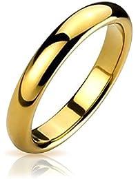 Bling Jewelry chapado en oro de 4 mm de banda de boda de tungsteno