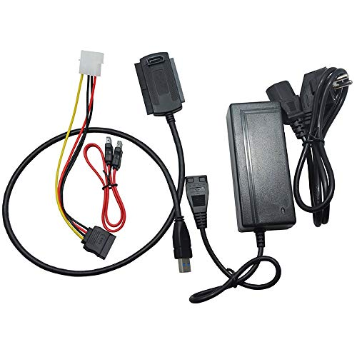 Ide Übertragungsrate (CHOULI SI11 Durable Use USB 3.0 für SATA IDE 3,5 Zoll 2,5 Zoll Festplattentreiber EU schwarz)