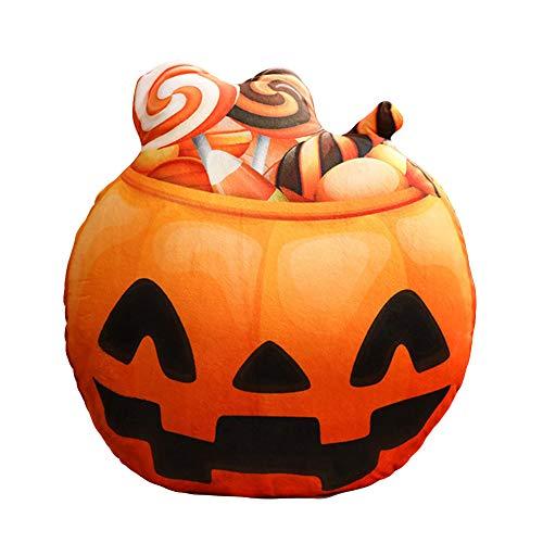 WETERS Halloween-Lustiges Kürbiskissen Druckte Partei-Versorgungsmaterialien des Plüschspielzeugs Kreative Ausdruck,Candy (Wachs Halloween Candy)