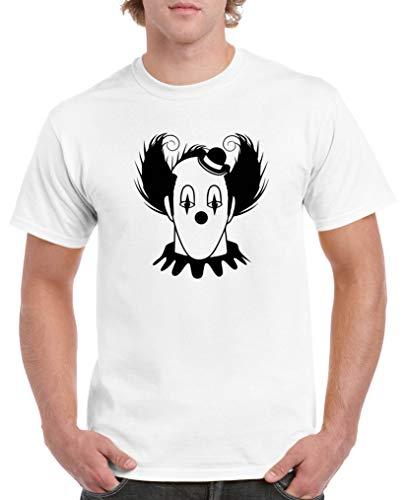 Comedy Shirts - Halloween Clown - Herren T-Shirt - Weiss/Schwarz Gr. M