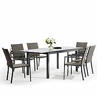 tavolo e sedie in rattan per il giardino - shopgogo - Mobili Da Giardino In Rattan Vita Moderna