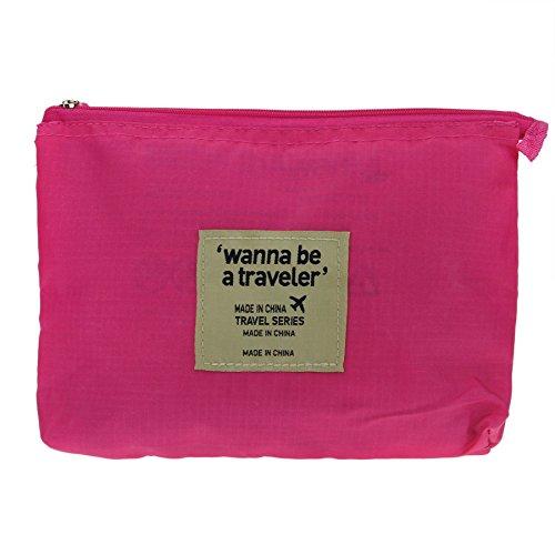 Bao Core Rangement de Bijoux Portable Trousse de Toilette pour voyage Multifonctionnel Imperméable de bijoux Grande Capacité Polyester Bleu/Rose Rouge