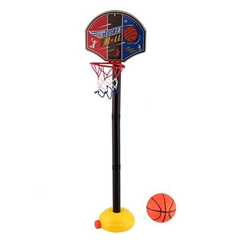 Ballylelly-Kinder Sport tragbare Basketball Spielzeug Set mit Ständer Ball & Pumpe Kleinkind Baby (Farbe: Multicolor)