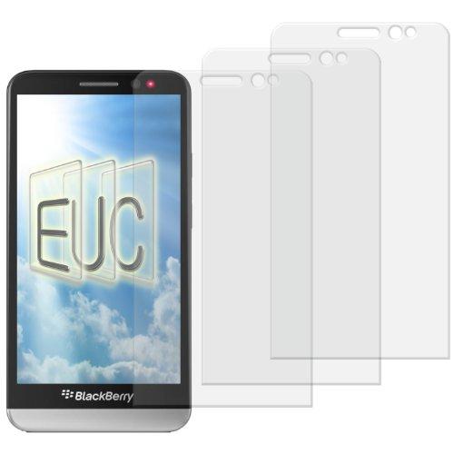 3 x Displayschutzfolie klar/wie unsichtbar für Blackberry Z 30