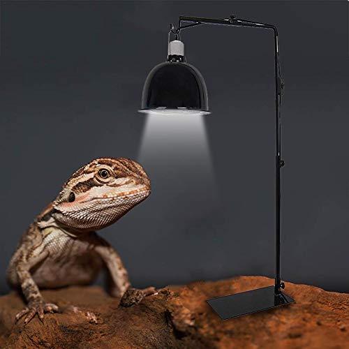 Liteness Calefacción del Sostenedor De Bulbo, Telescópico Ajustable Metal Lámpara De Pie Soporte para Pollos del Reptil Terrario para Mascotas Criadora Brilliant