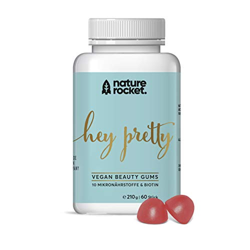 Biotin hochdosiert & Vitamin B12 | Softgums vegan | 11 Mikronährstoffe für gesunde Haut, Haare, Nägel | 60 Fruchtgummis Monatspackung | hergestellt in DE -