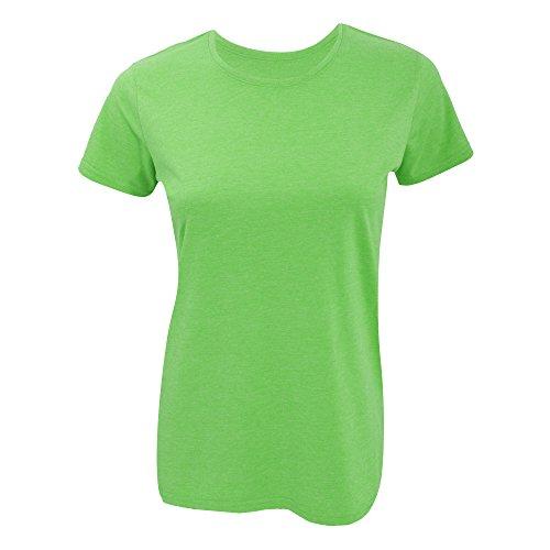 Russell Damen T-Shirt, lange Länge Blau Meliert