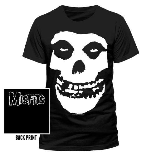 world-of-shirt Herren T-Shirt Misfits Skull Logo Offizielles Lizenzprodukt|XL (Skull T-shirt Logo)