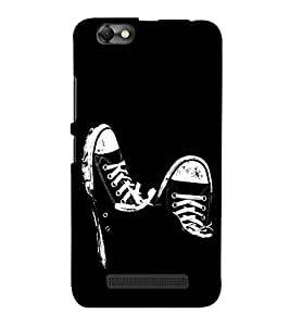 FUSON Male Sneakers Shoes 3D Hard Polycarbonate Designer Back Case Cover for Lenovo Vibe C :: Lenovo A2020