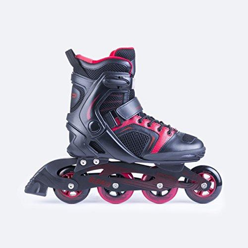 SPOKEY® GARA BLACK/RED Inline Skates | Kinder | Damen | Herren | Inline Blades | ABEC7 Karbon | Aluminiumschiene | Größen 38-47