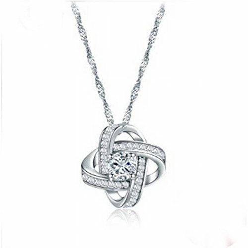 Thumby Klee Halskette Weibliche Schlüsselbein Kette Mode Diamant-Schmuck, Kettensätze
