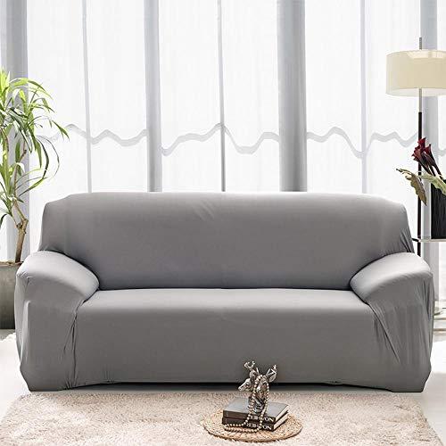 UMIWE Housse de canapé Extensible Couverture Protecteur Chaise Housses Spandex Décor Revêtement pour Canapé 1, 2 ou 3 Places (3 Seats, Gris)